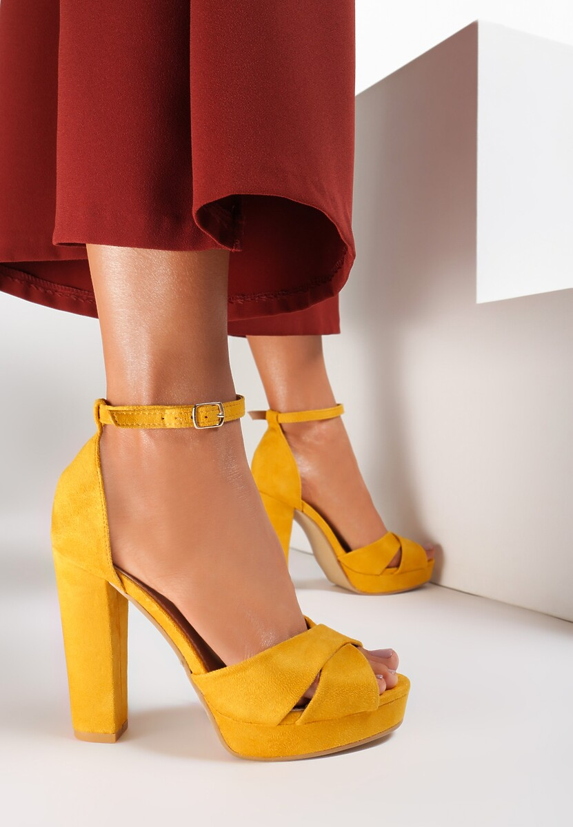 Żółte Sandały Ask For