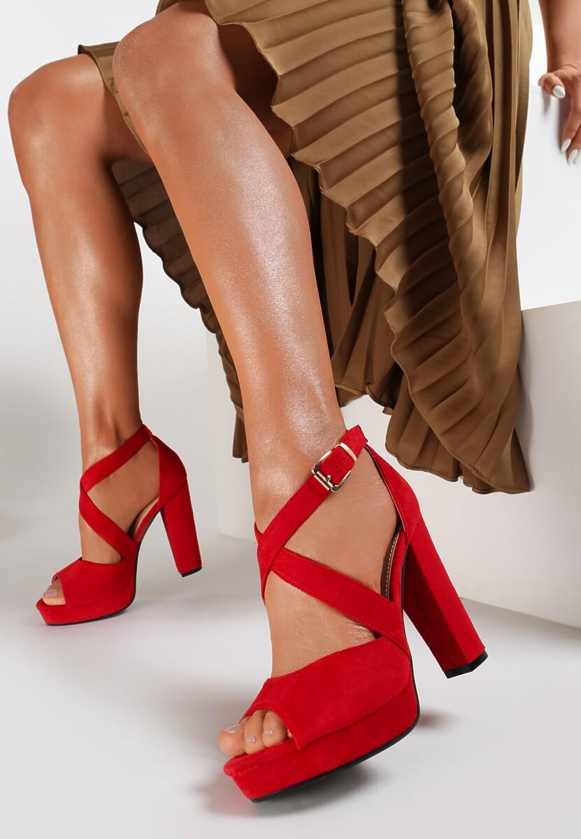 Czerwone Sandały Leisurely