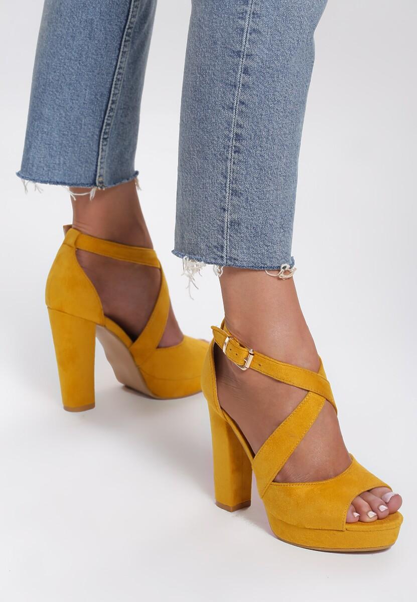 Żółte Sandały Leisurely