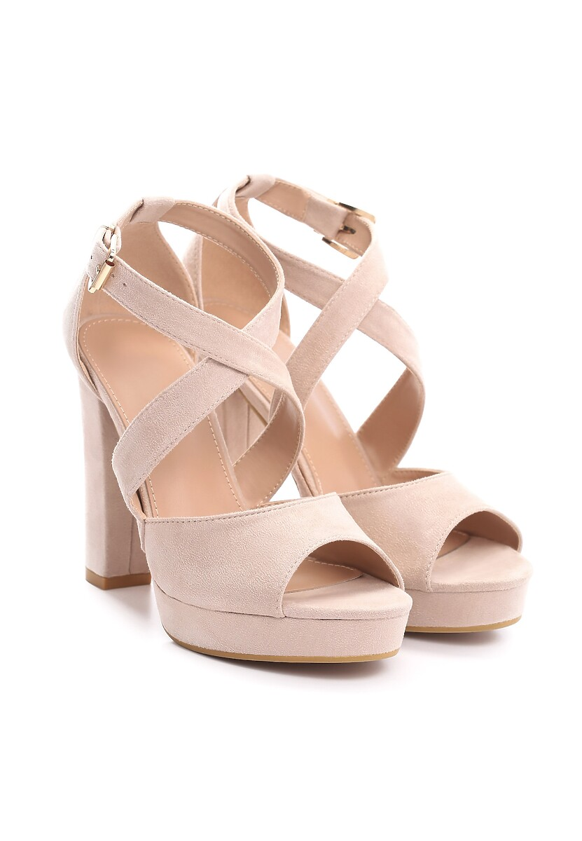 Beżowe Sandały Leisurely