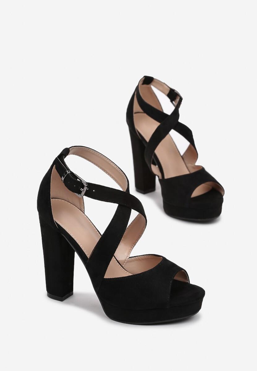 Czarne Sandały Leisurely