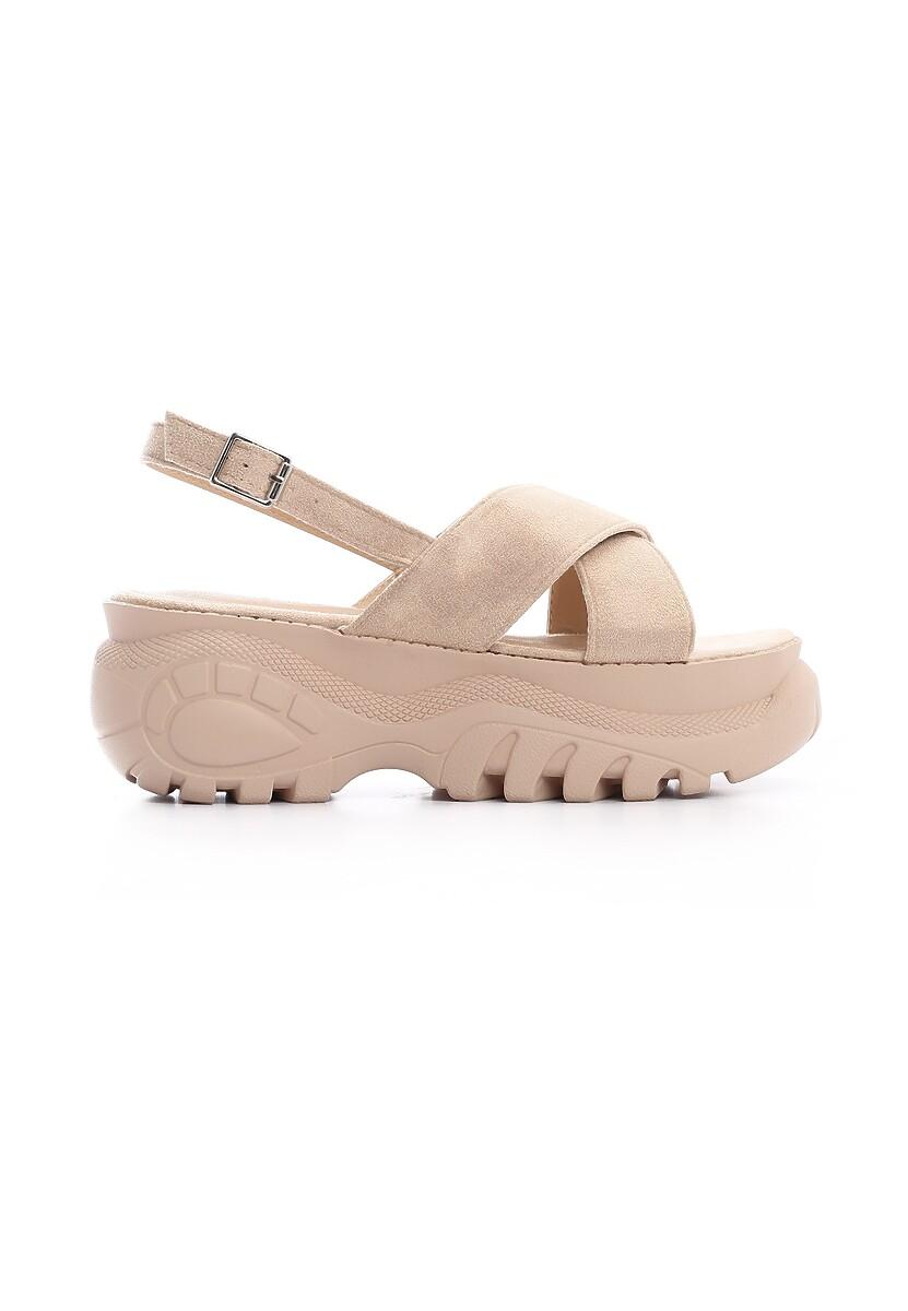 Beżowe Sandały Transport