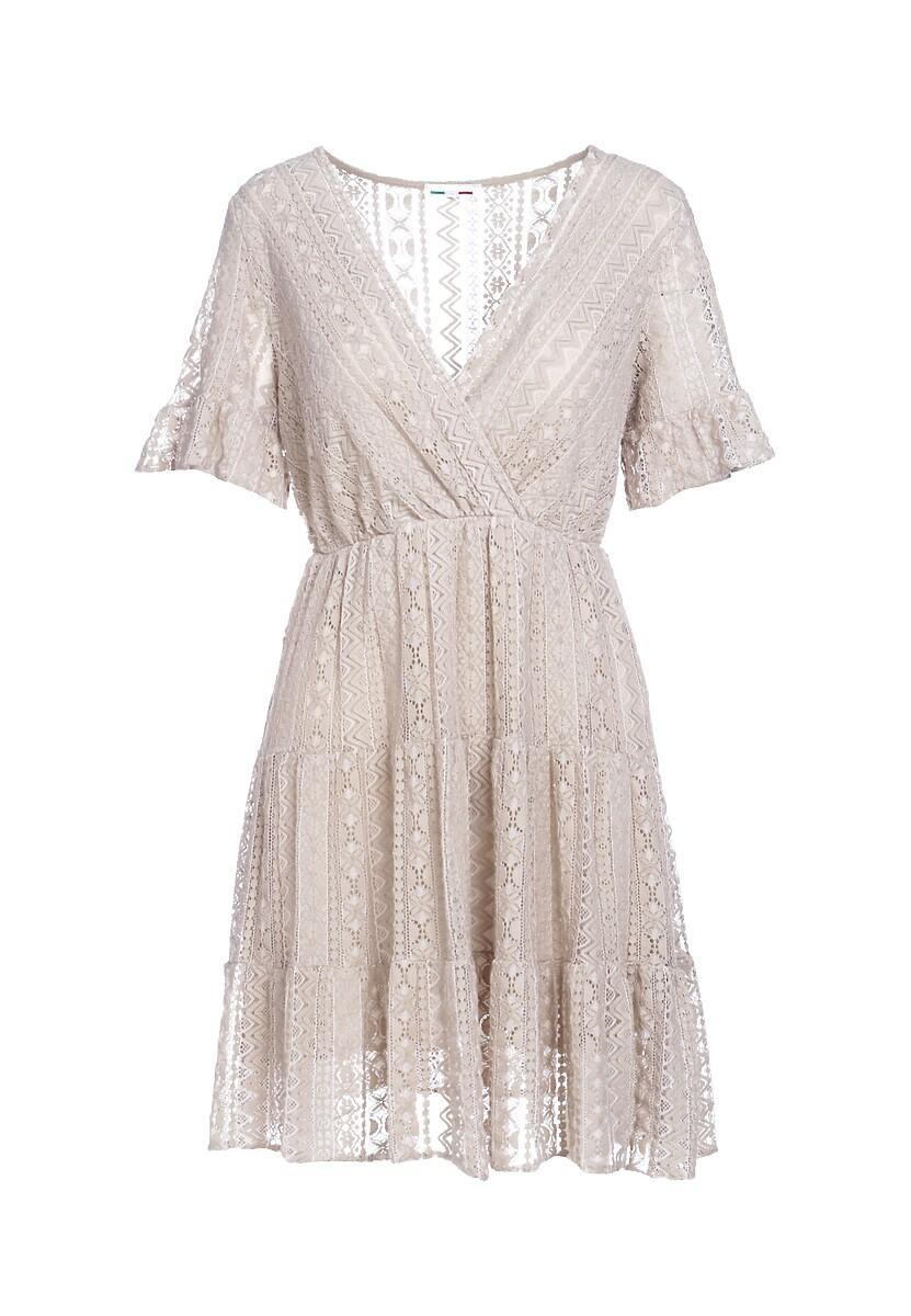 Beżowa Sukienka Sweetroot