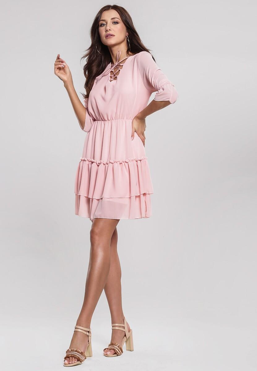 bb5e3050b4 Różowa Sukienka Pounding w Renee.pl