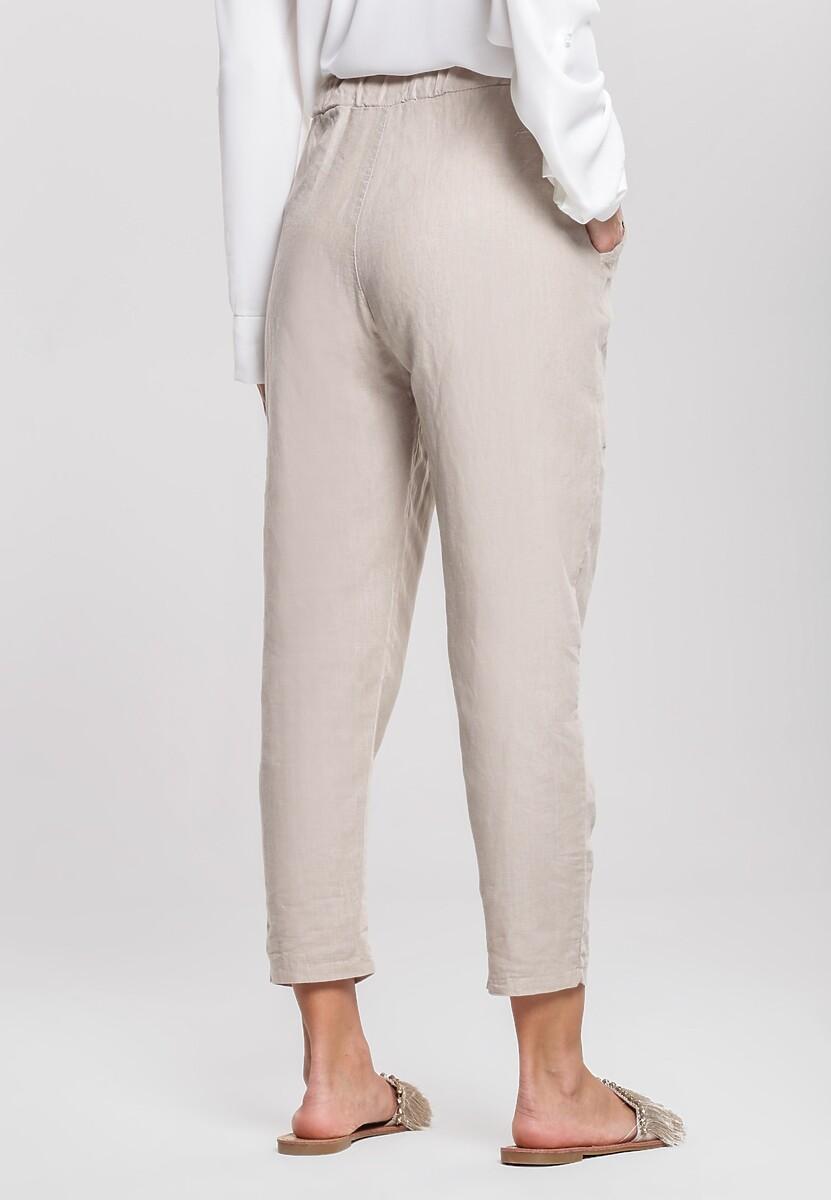 Beżowe Spodnie Wintery