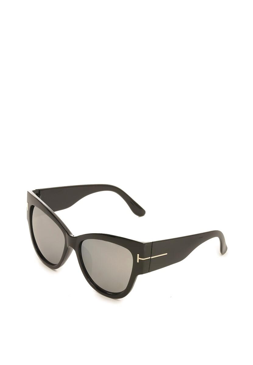 Czarno-Srebrne Okulary Amygdala
