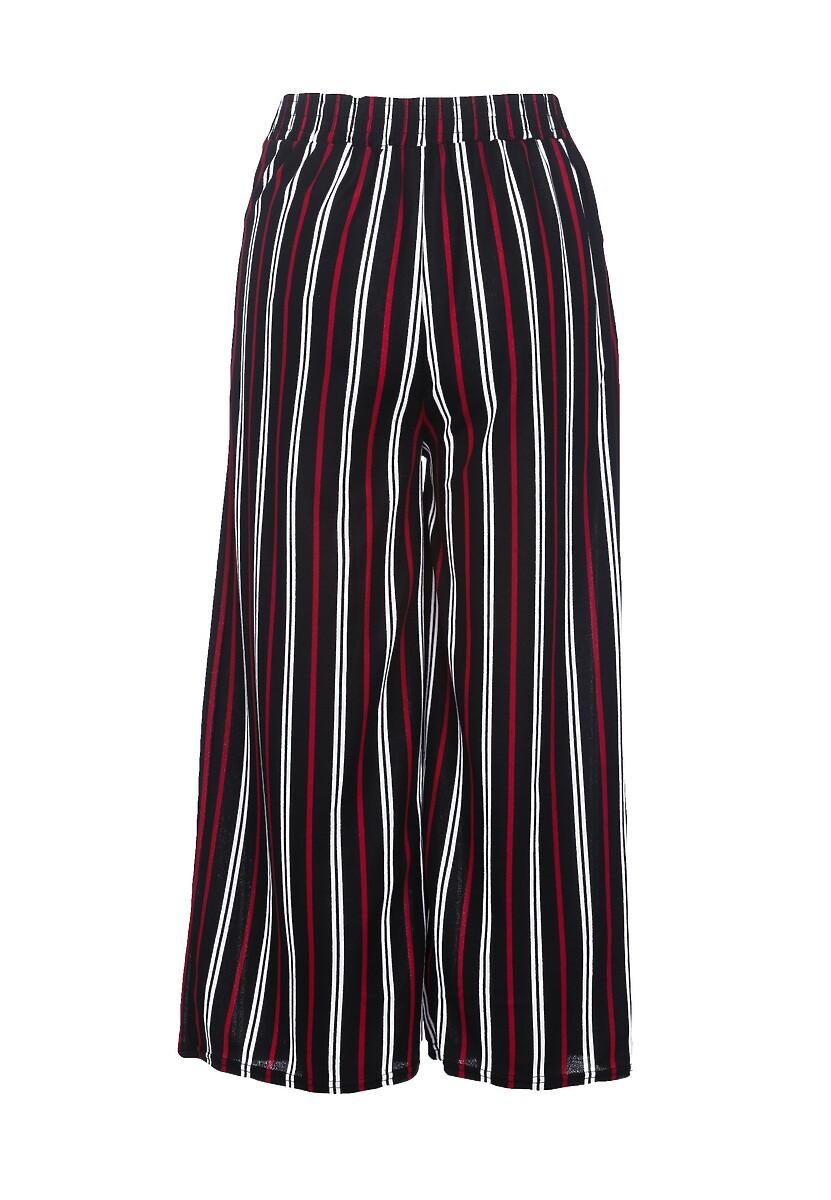 Czarno-Czerwone Spodnie Aspirer