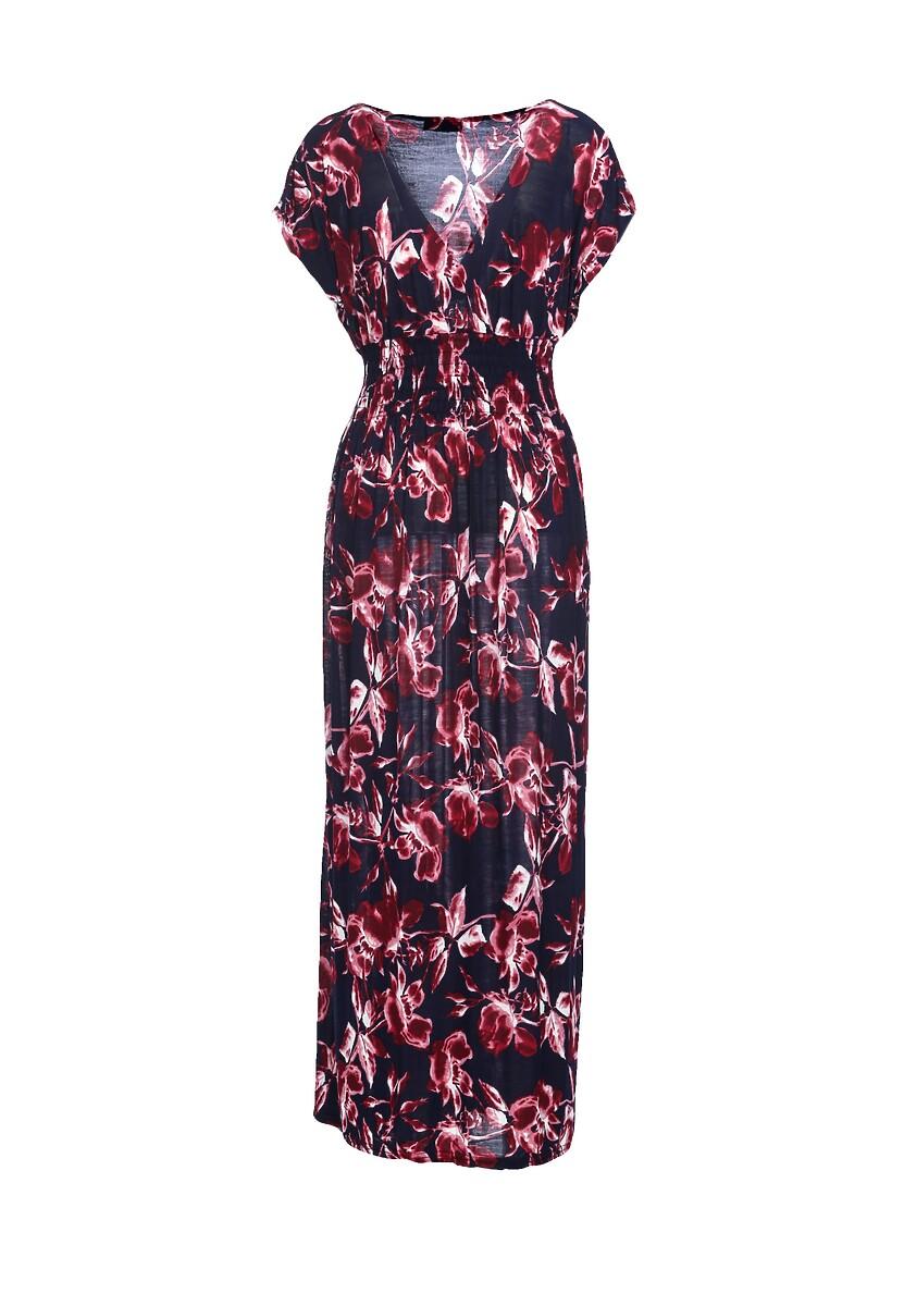 Granatowo-Bordowa Sukienka Put At Ease