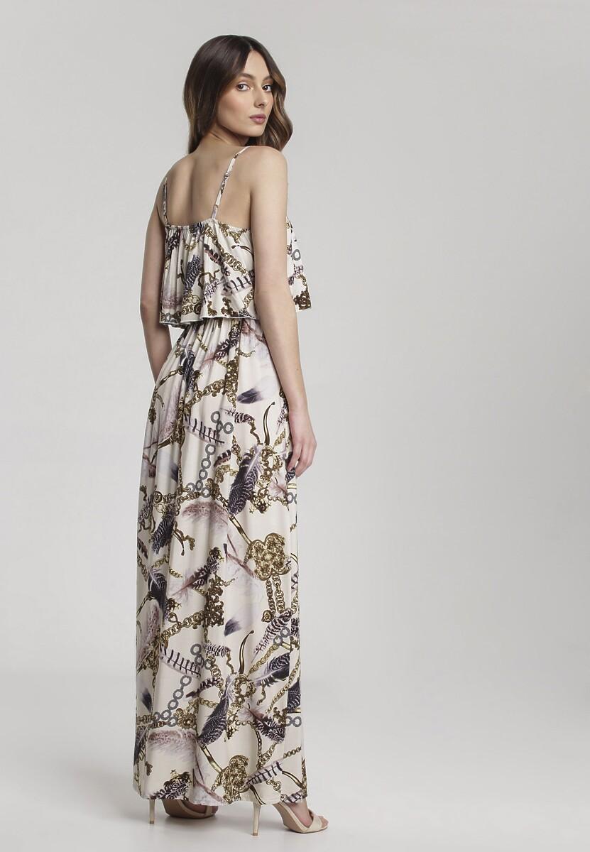 Kremowa Sukienka Overwhelming