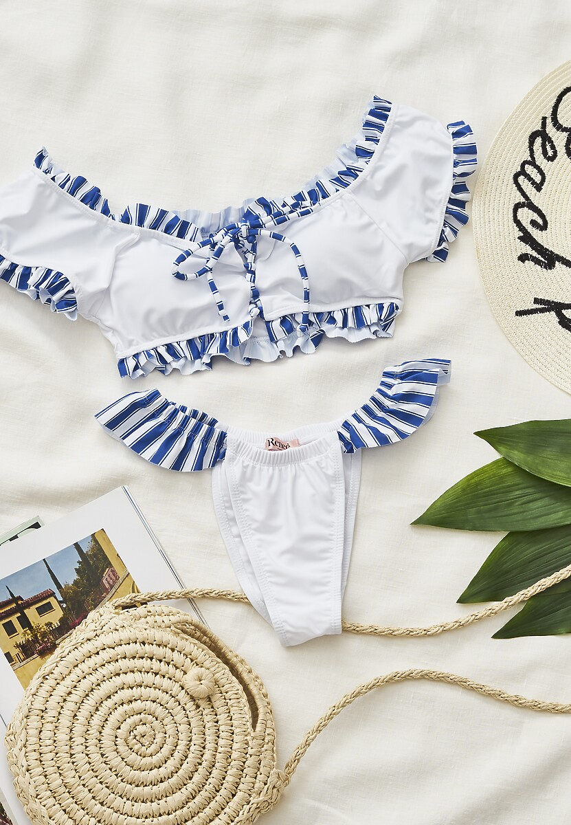 Białe Bikini Rainband