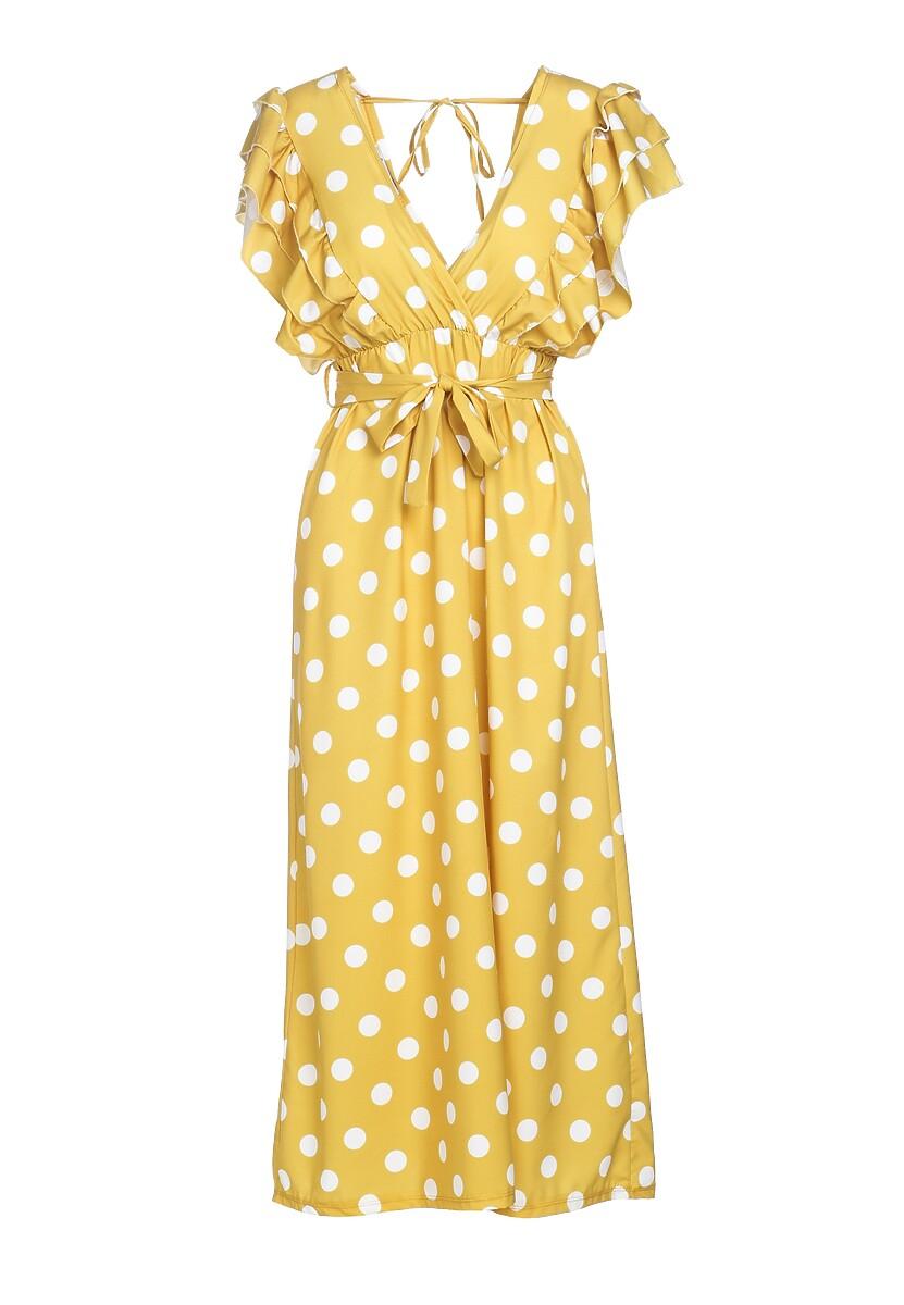 Żółta Sukienka Demonstrative Of