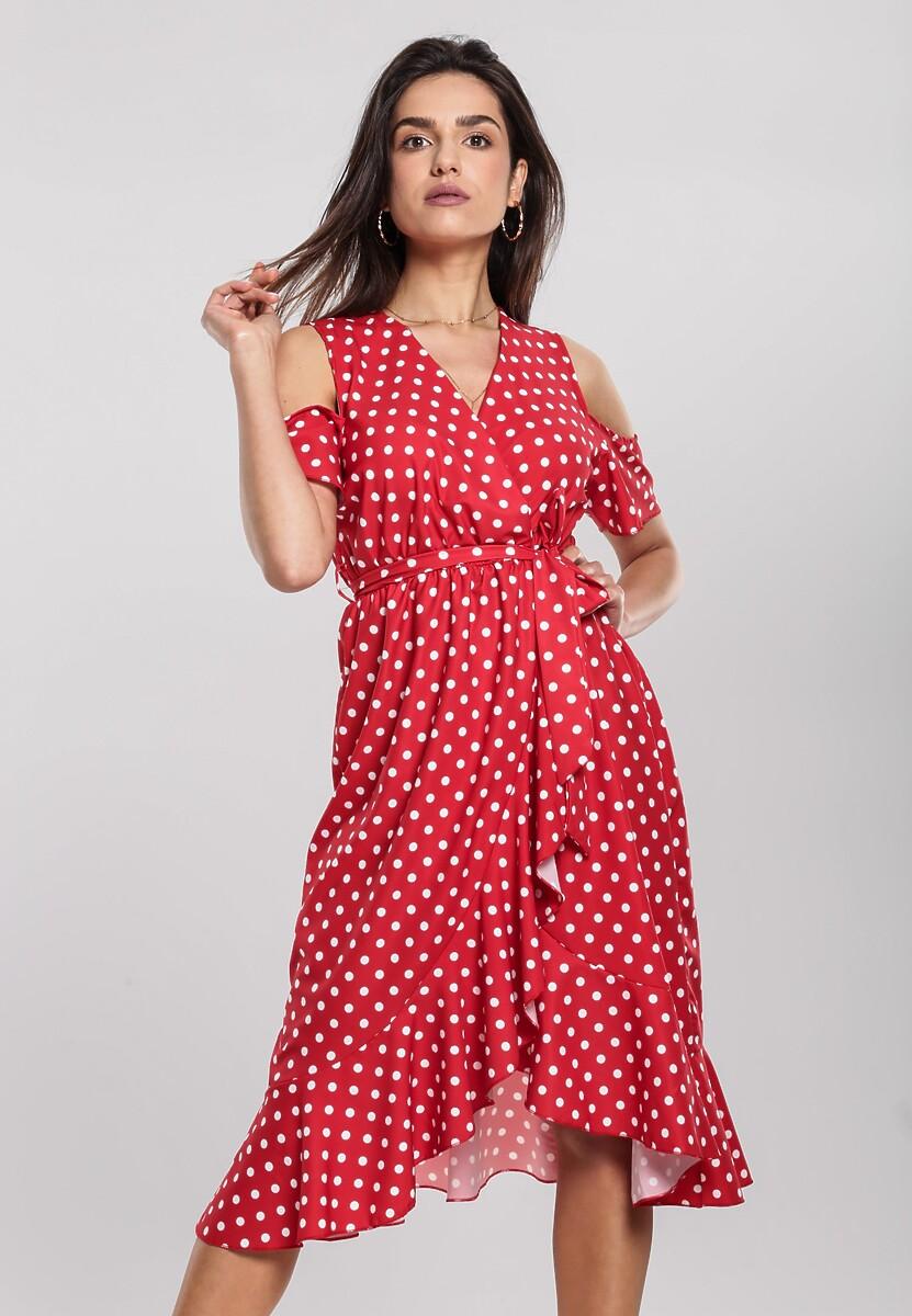 Czerwona Sukienka Breezes Kod produktu: 96352
