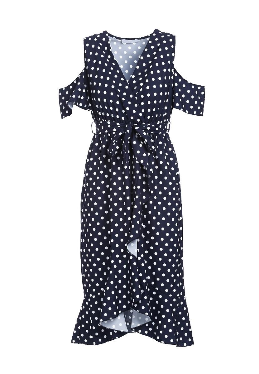 Granatowa Sukienka Breezes