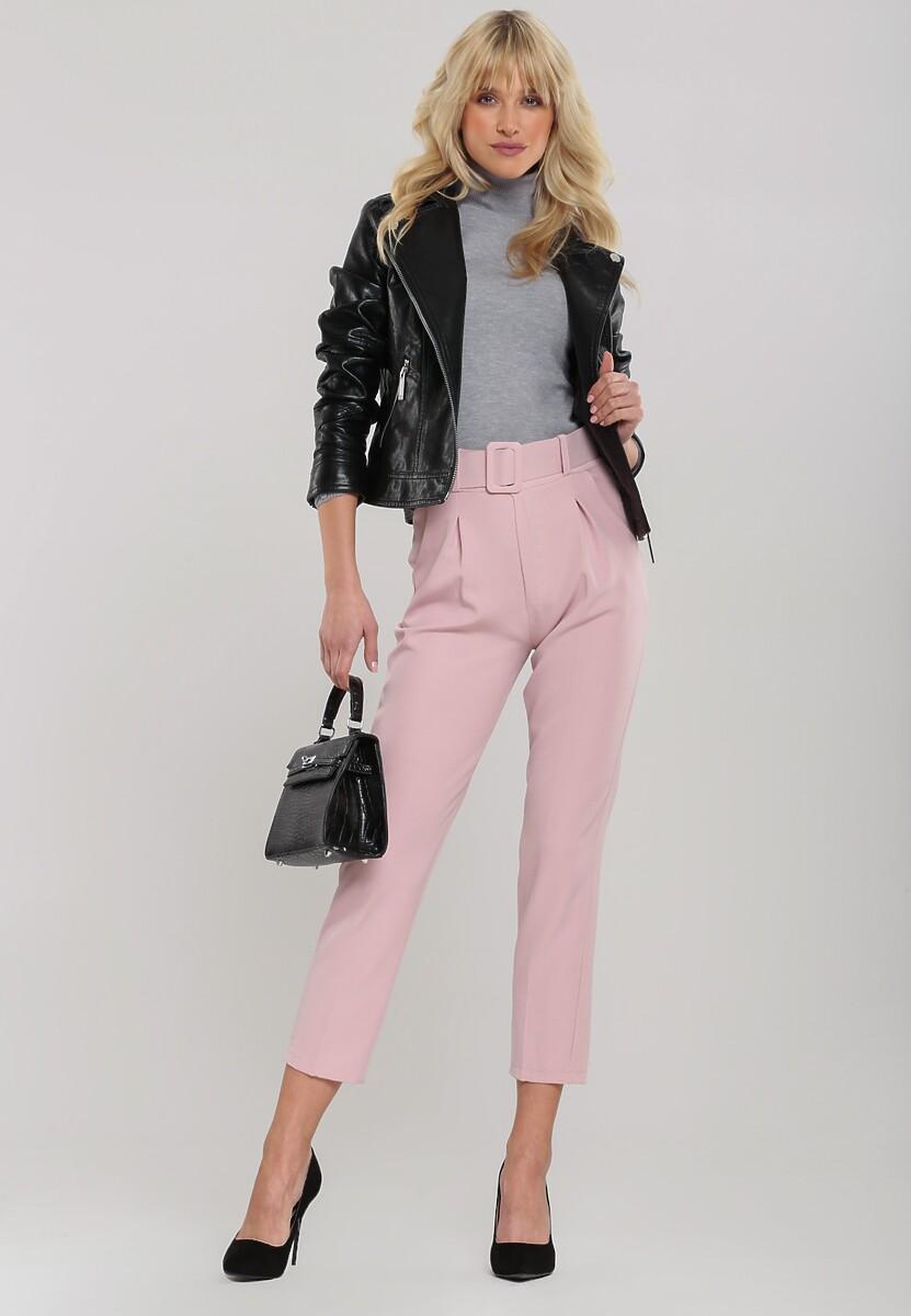 Jasnoróżowe Spodnie Simplicity