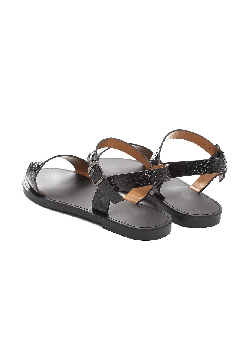 Czarne Sandały Cloudlike