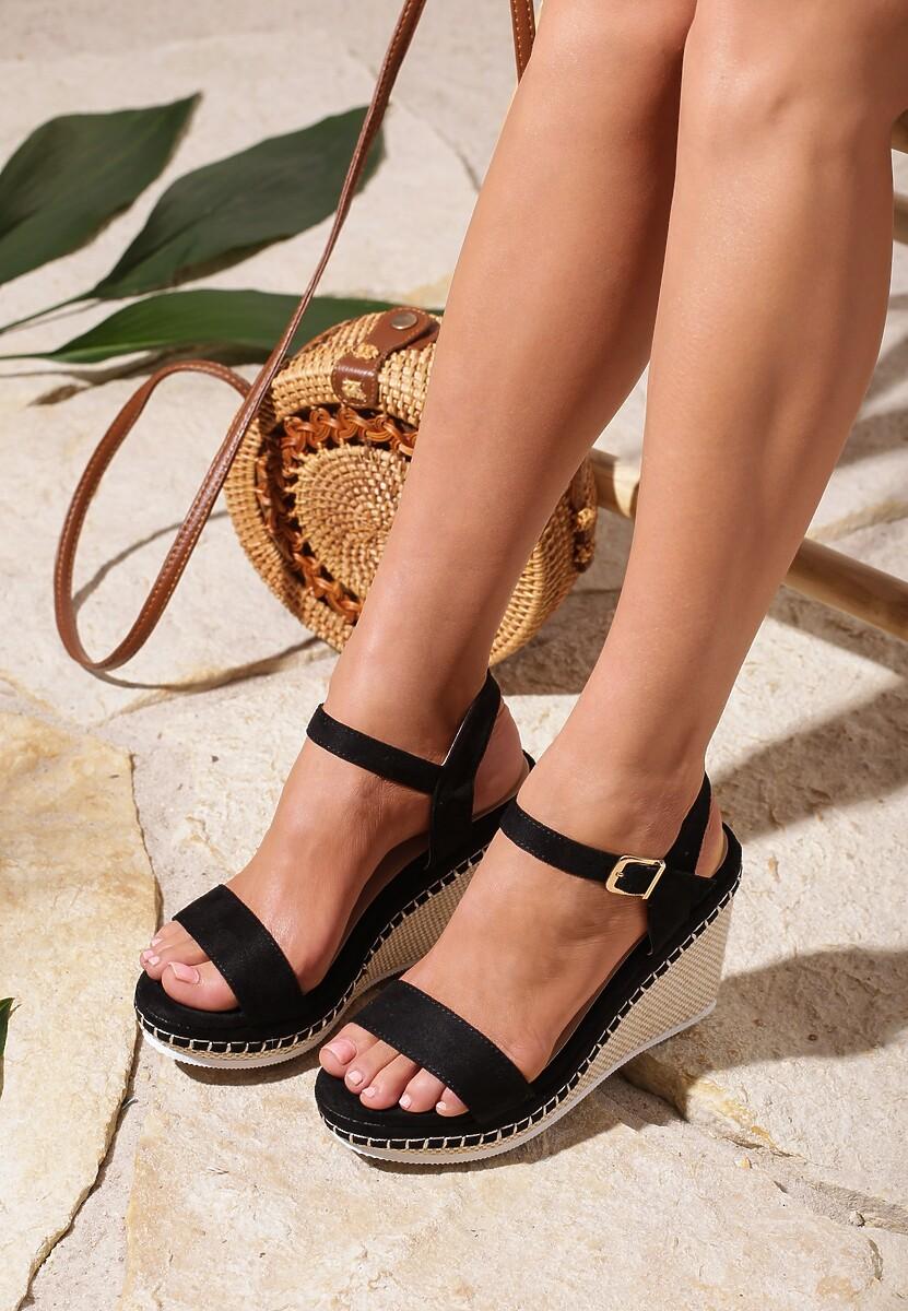Czarne Sandały Gainfuls