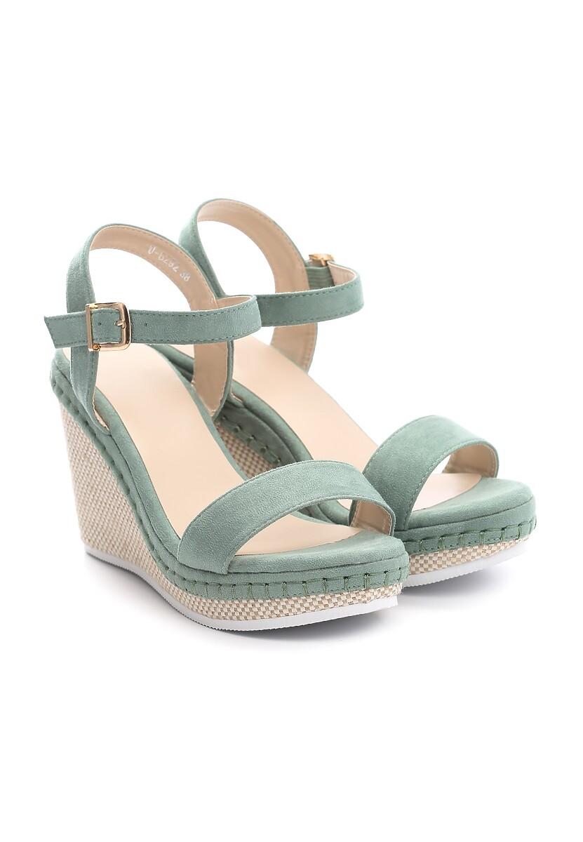 Zielone Sandały Gainfuls