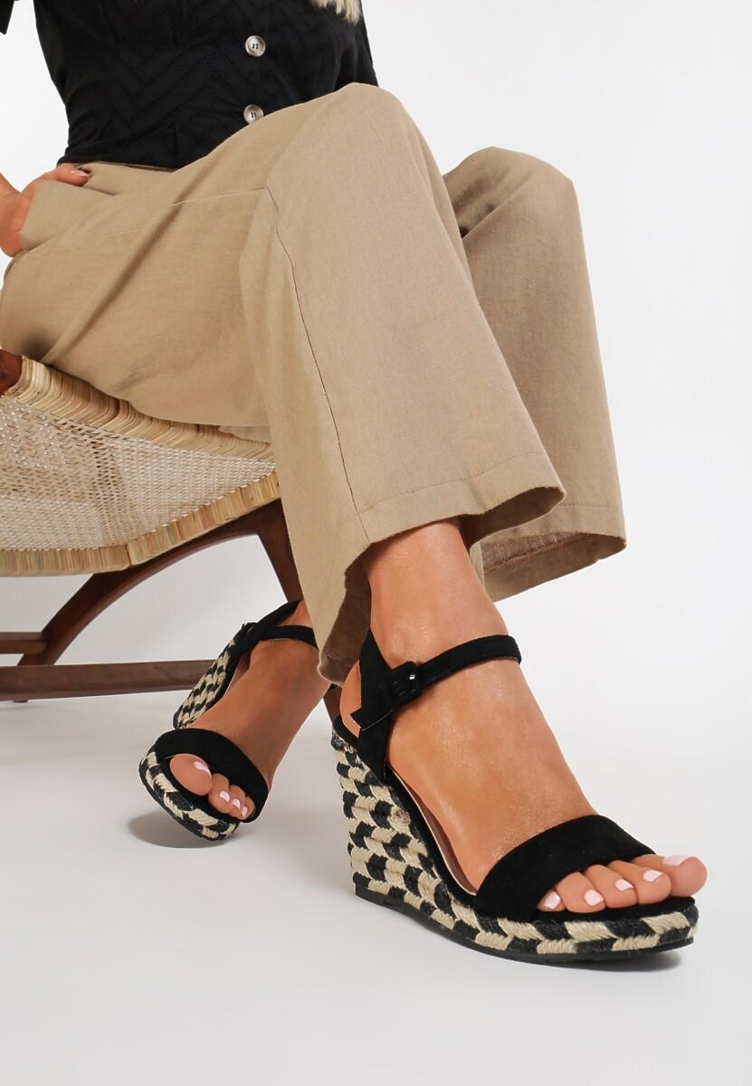 Czarne Sandały Intercloud