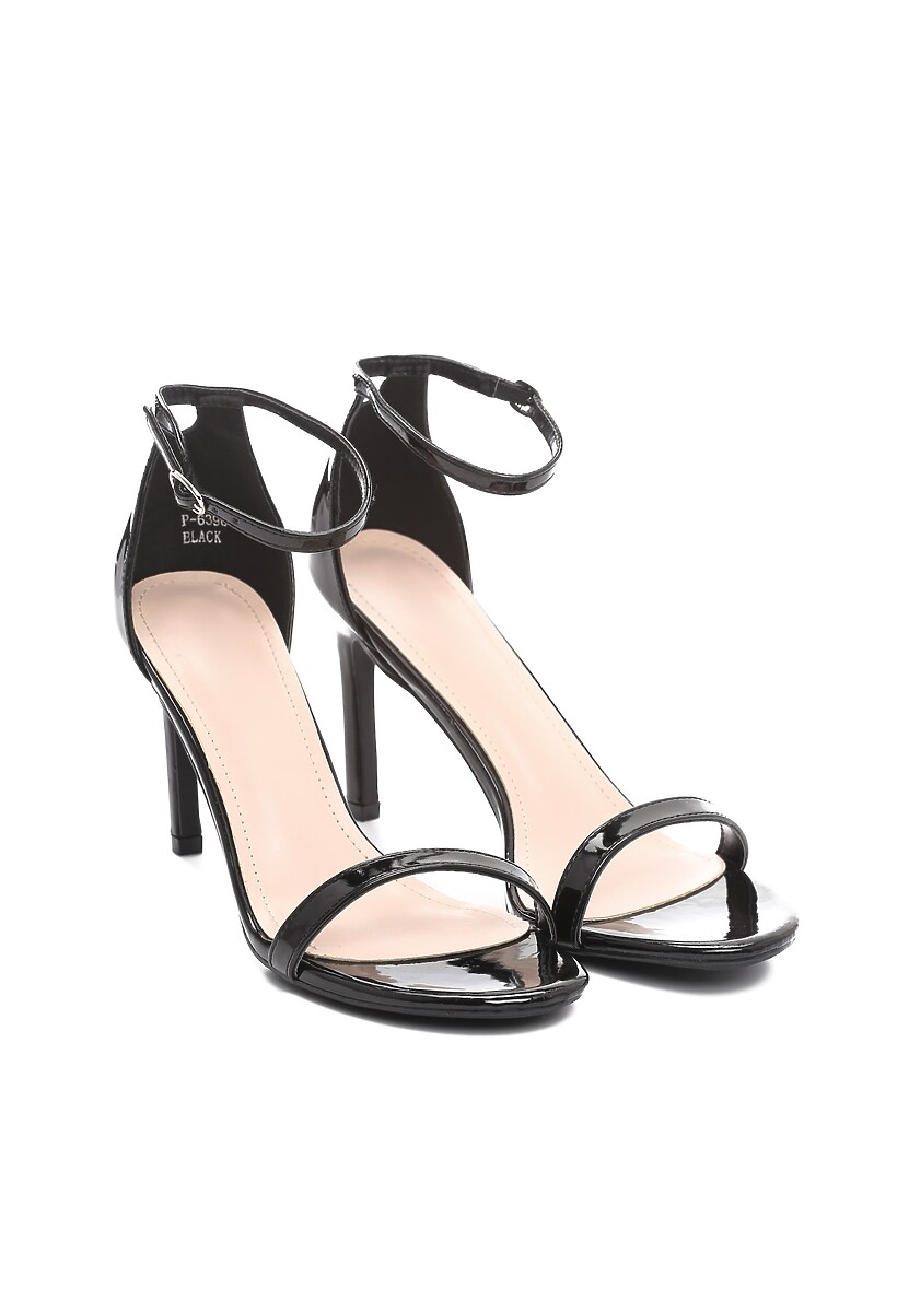 Czarne Sandały Comity