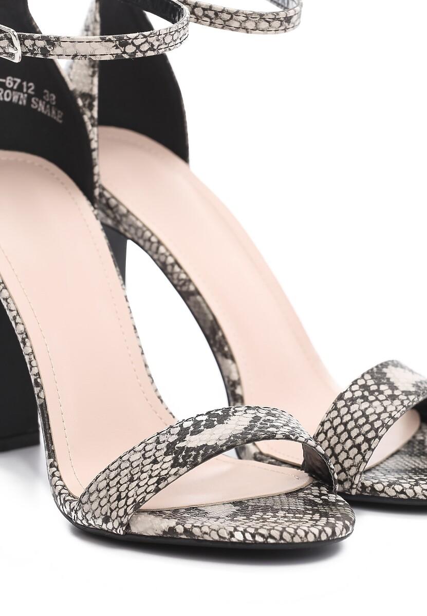 Brązowe Sandały Stupefyingly