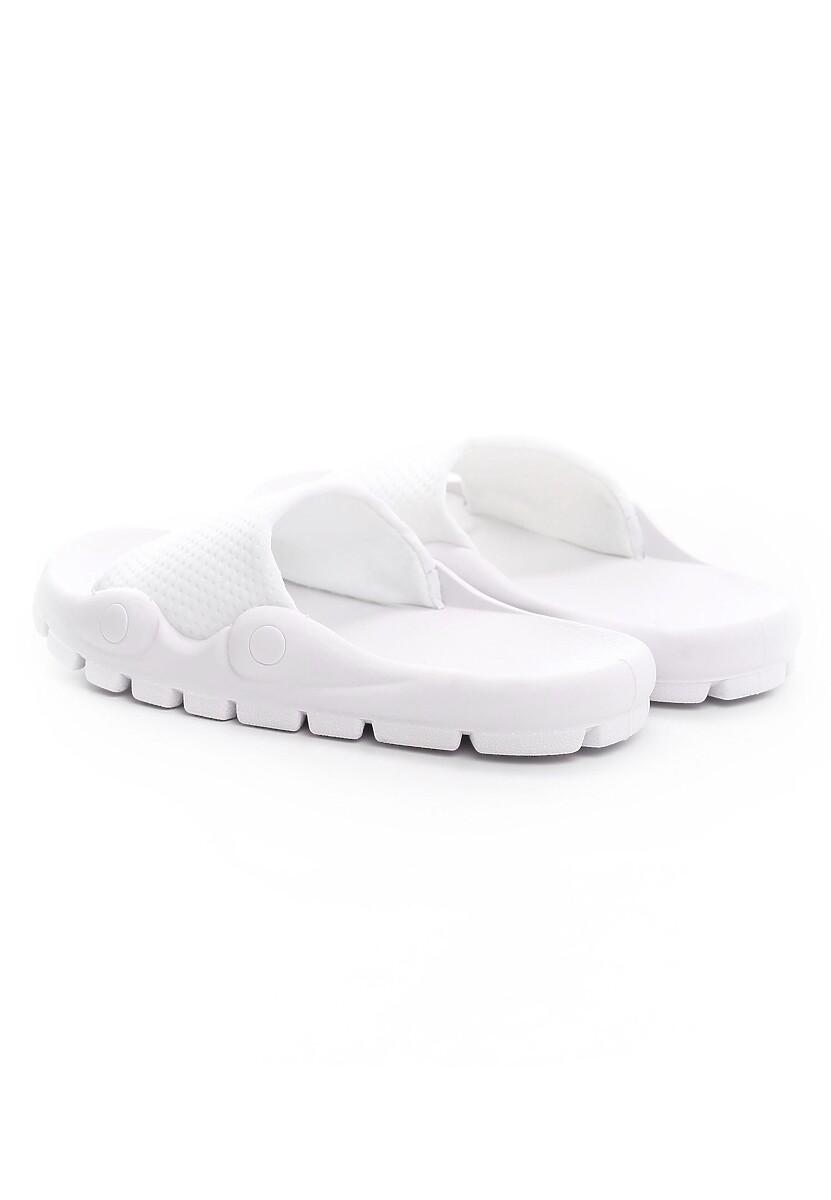 Białe Klapki Nesh
