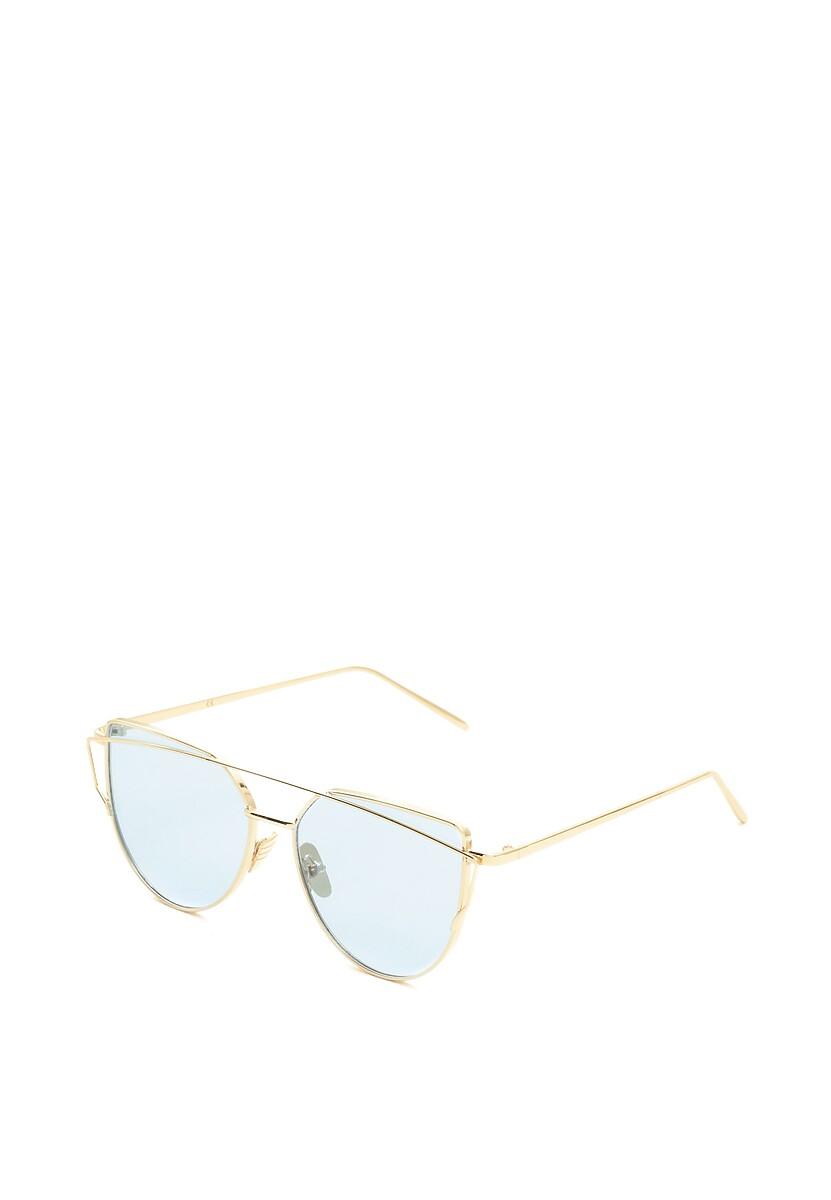 Złoto-Niebieskie Okulary Pudding