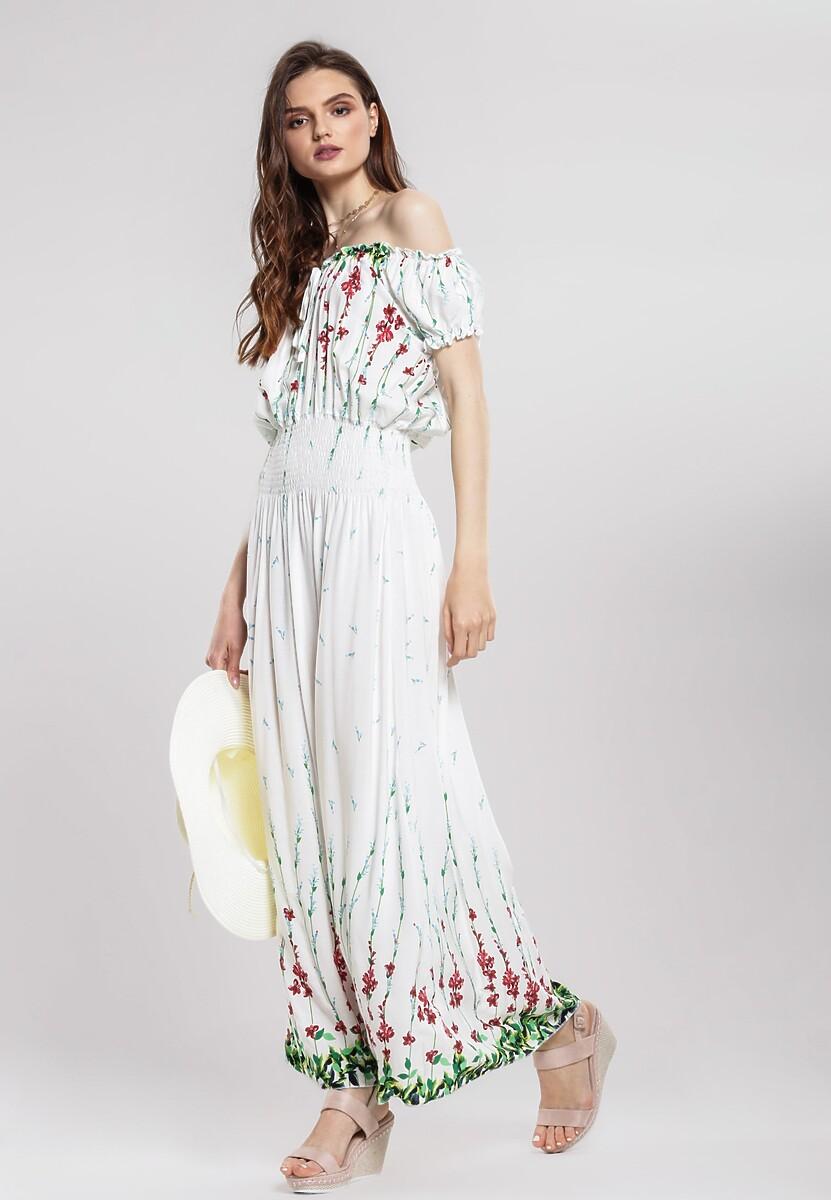 Biała Sukienka Vaulting