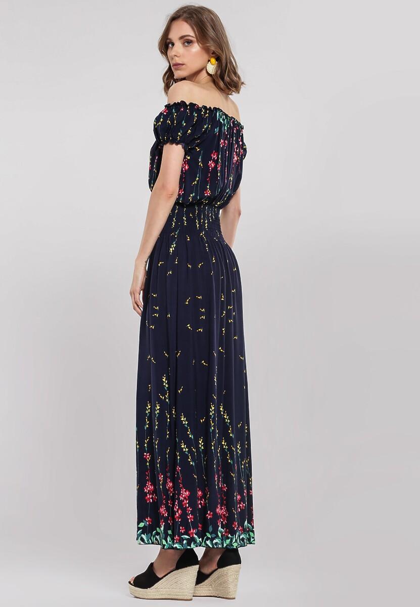 Granatowa Sukienka Vaulting