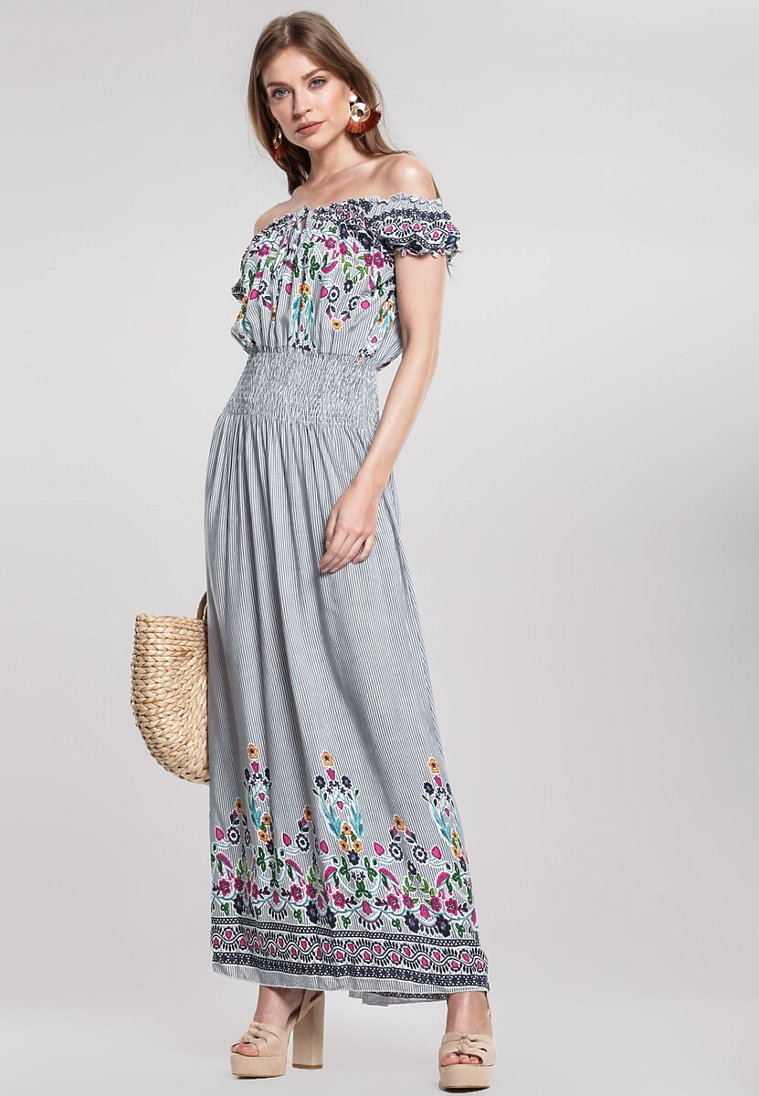 Granatowa Sukienka Well Timed