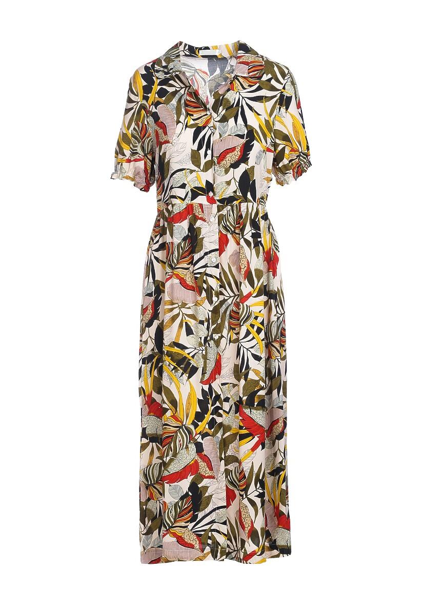 Beżowa Sukienka Painless