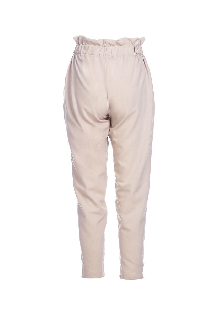 Beżowe Spodnie Lighthearted