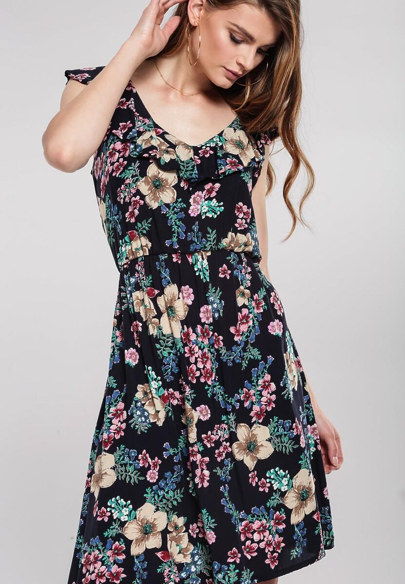 Granatowa Sukienka Felt