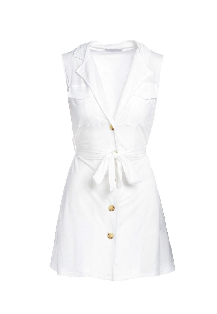 Biała Sukienka Loam