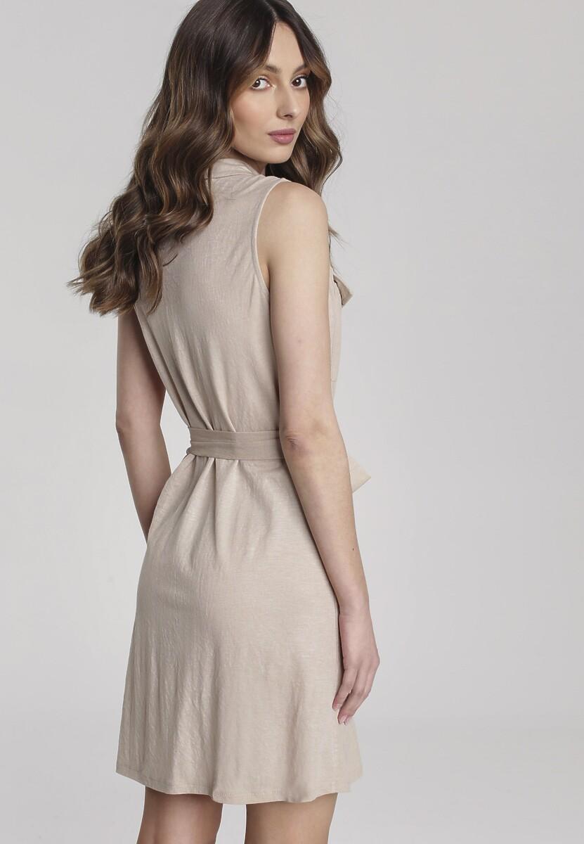 Beżowa Sukienka Loam