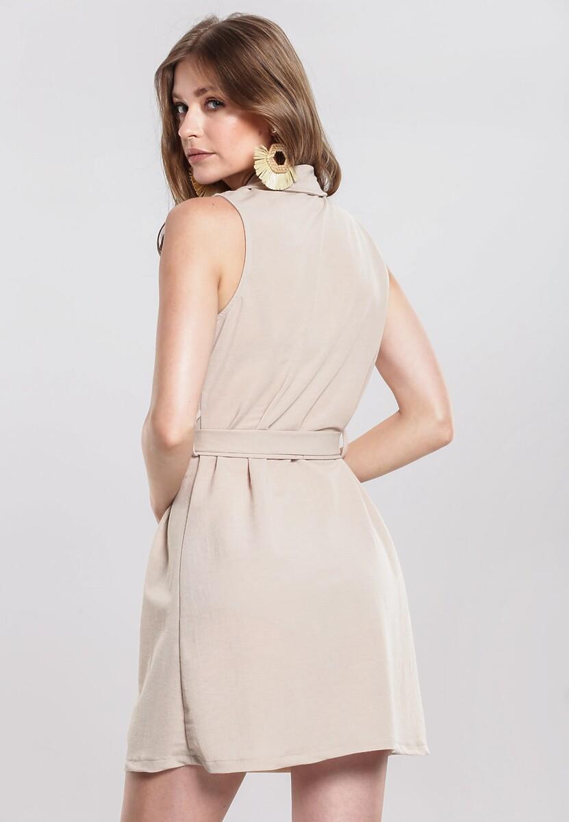 Jasnobeżowa Sukienka Loam