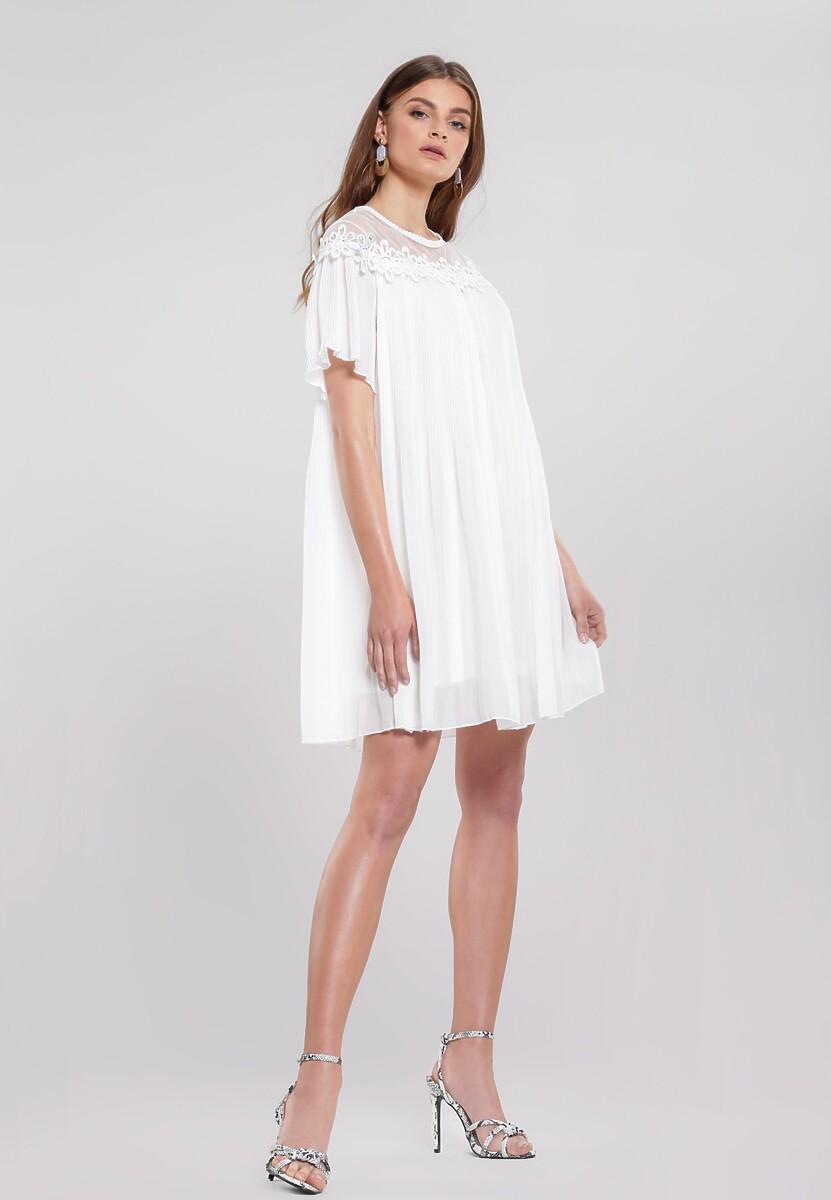 Biała Sukienka Time Tested