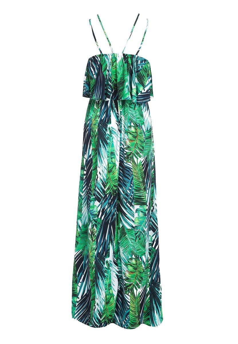 Granatowo-Zielona Sukienka Feels