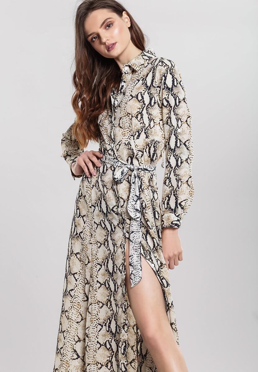 Beżowa Sukienka King Cobra
