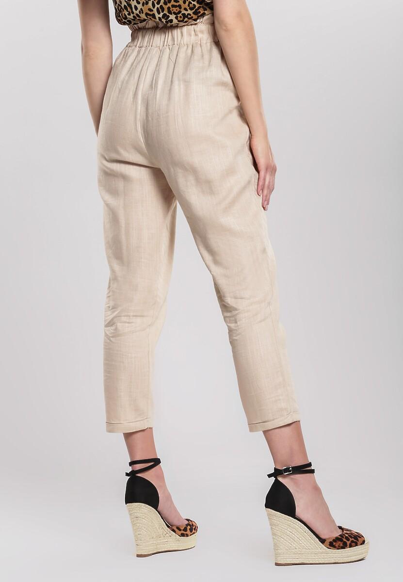 Beżowe Spodnie Even Still
