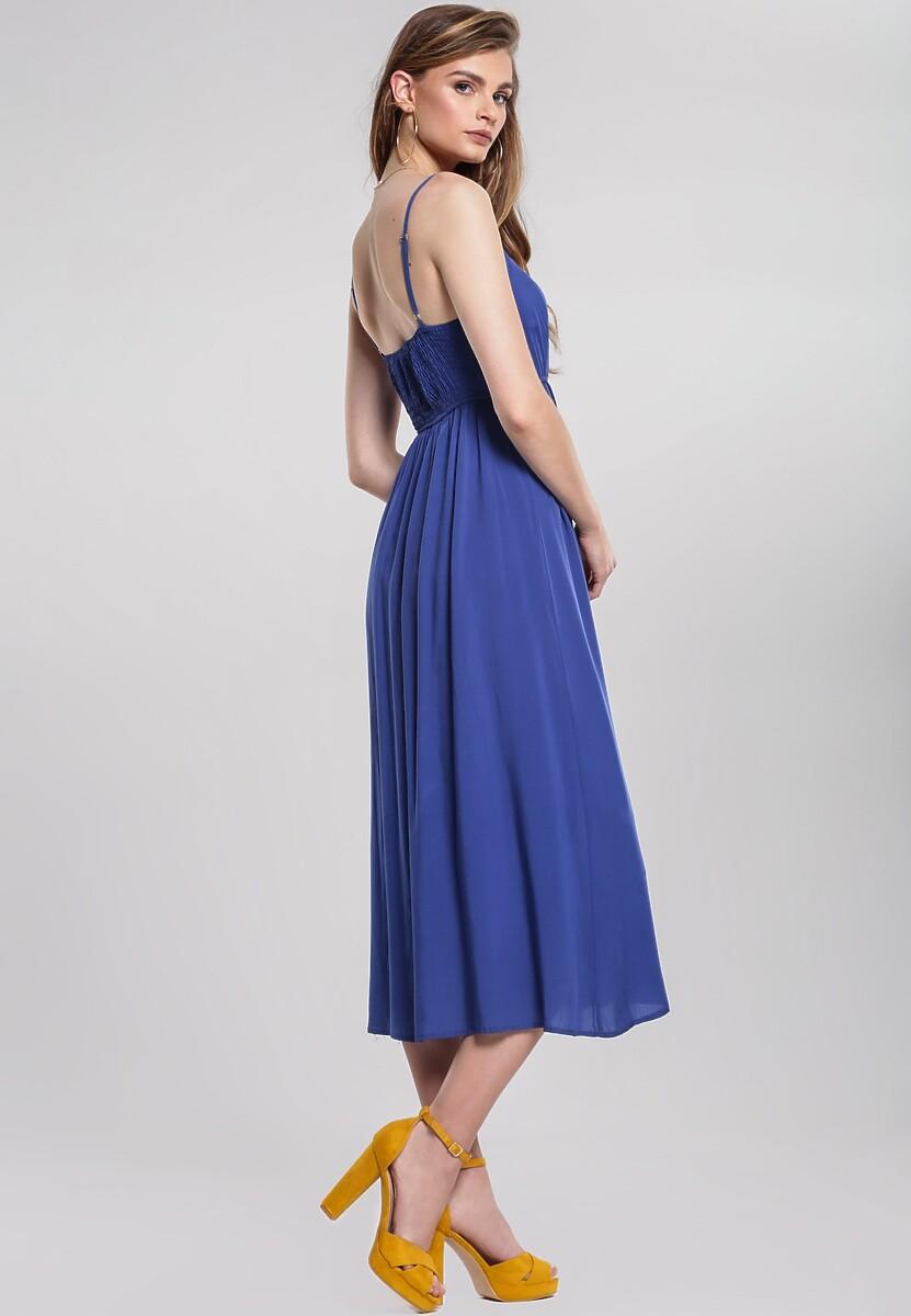 Ciemnoniebieska Sukienka Expecting