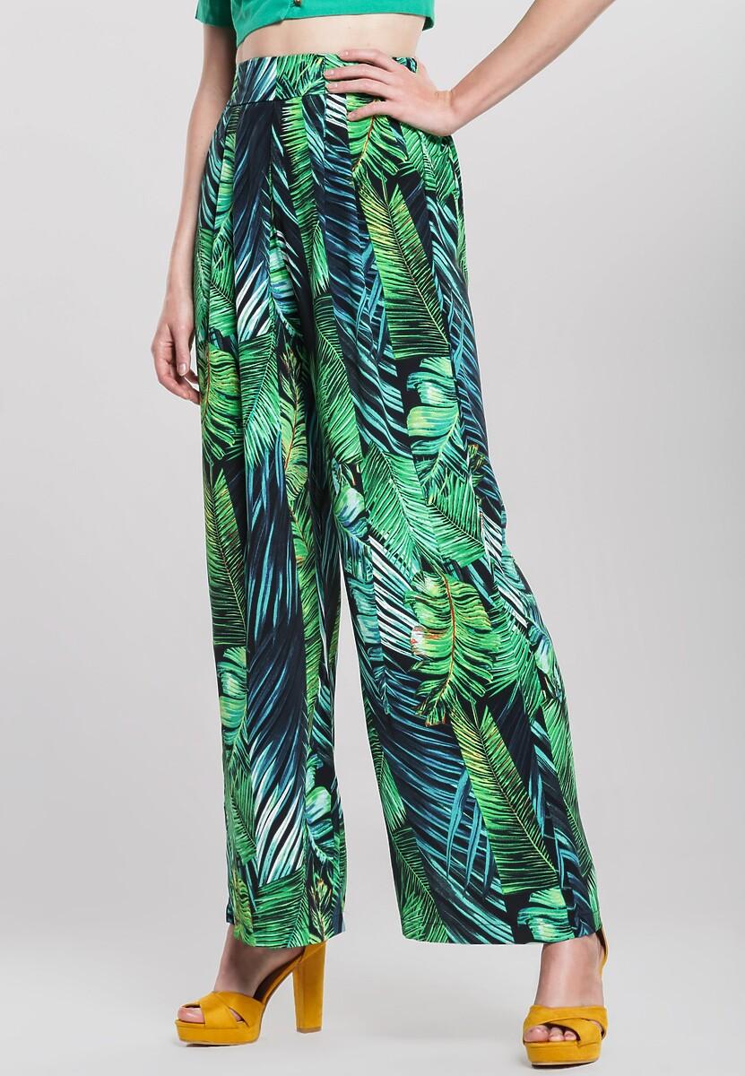Granatowo-Zielone Spodnie Renewed