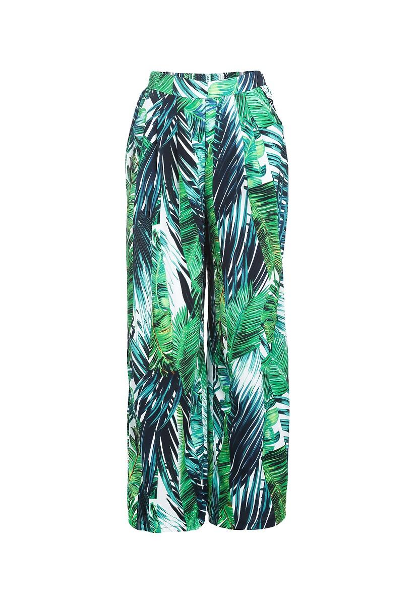 Biało-Zielone Spodnie Renewed