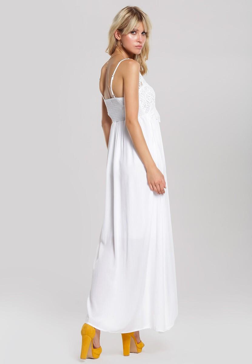 Biała Sukienka Keep Quiet