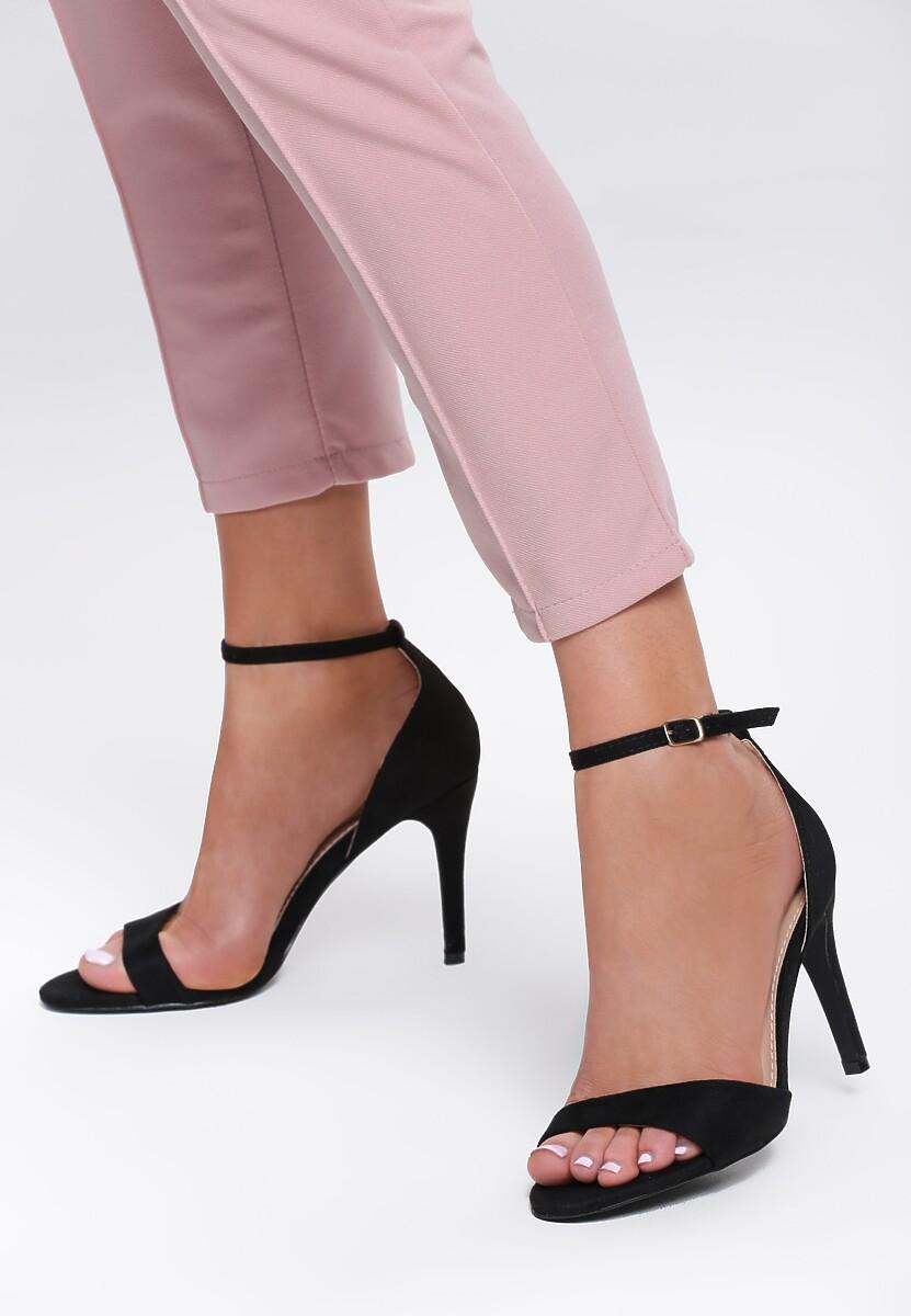 Czarne Sandały Aimed