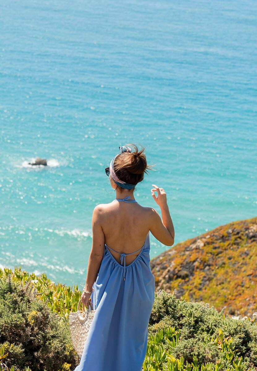 Niebieska Sukienka Sense Of Beauty