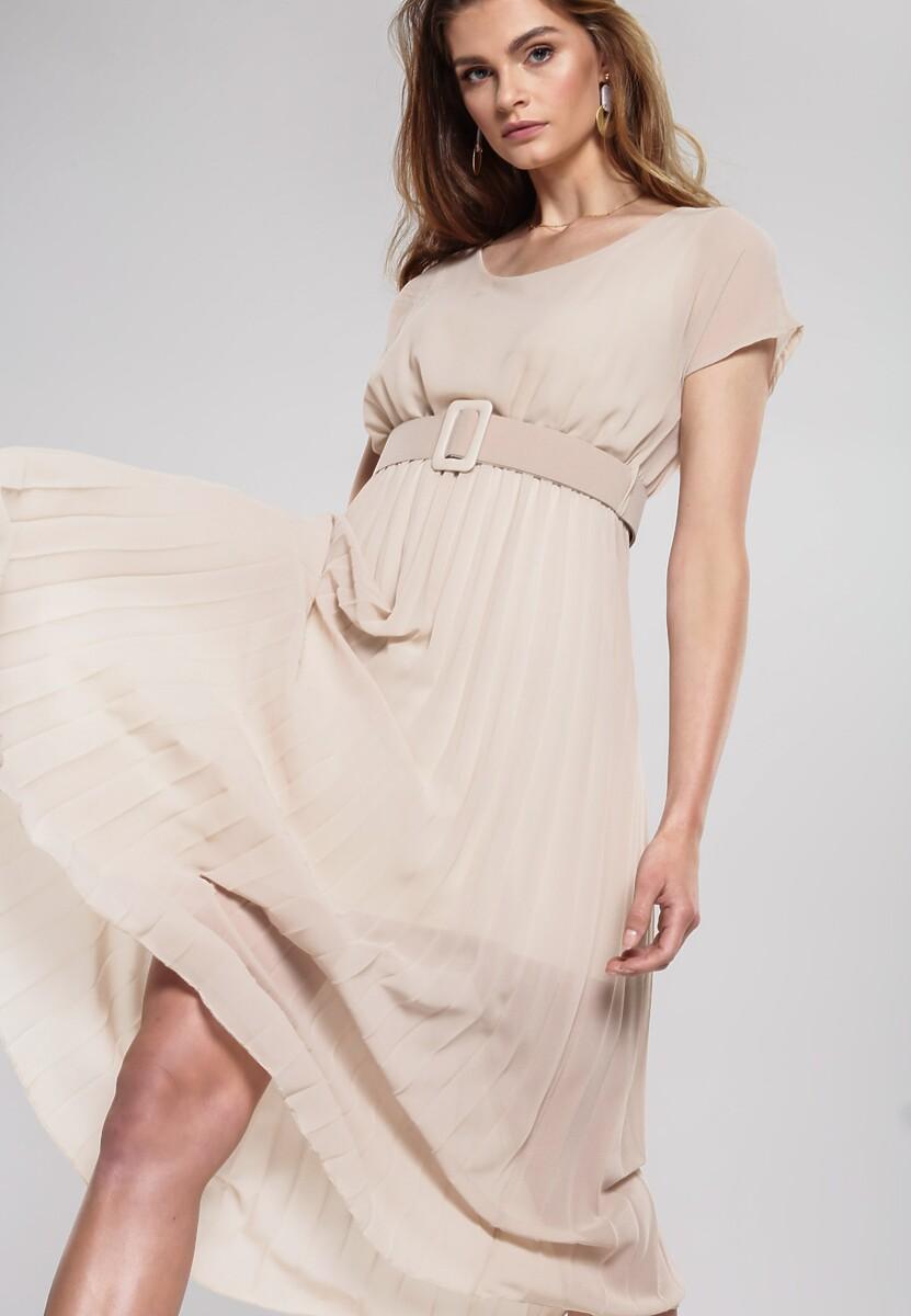 Jasnobeżowa Sukienka Mindful