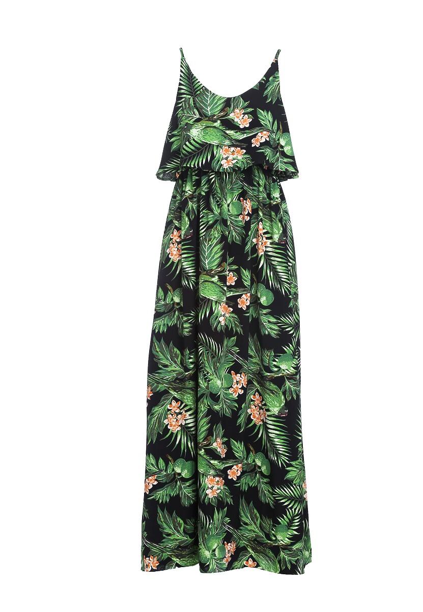 Granatowo-Zielona Sukienka Neighbors