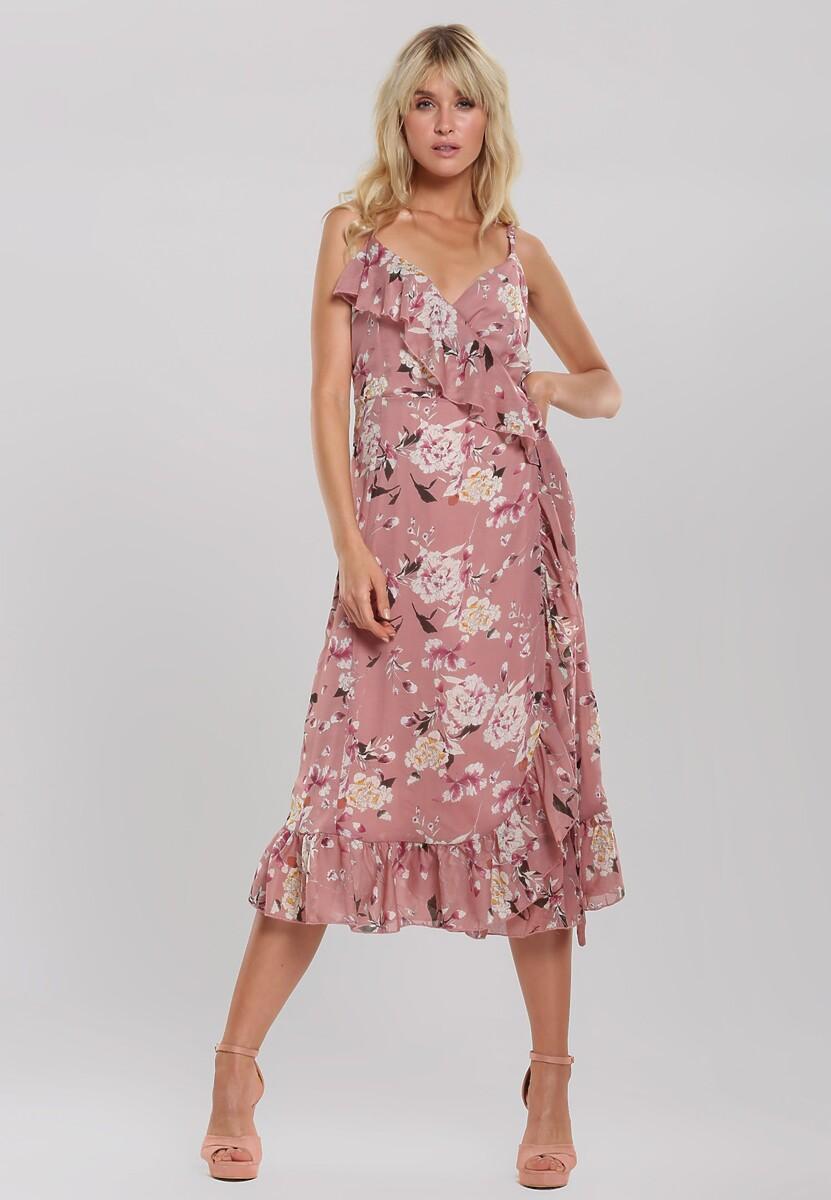 Różowa Sukienka Gardening