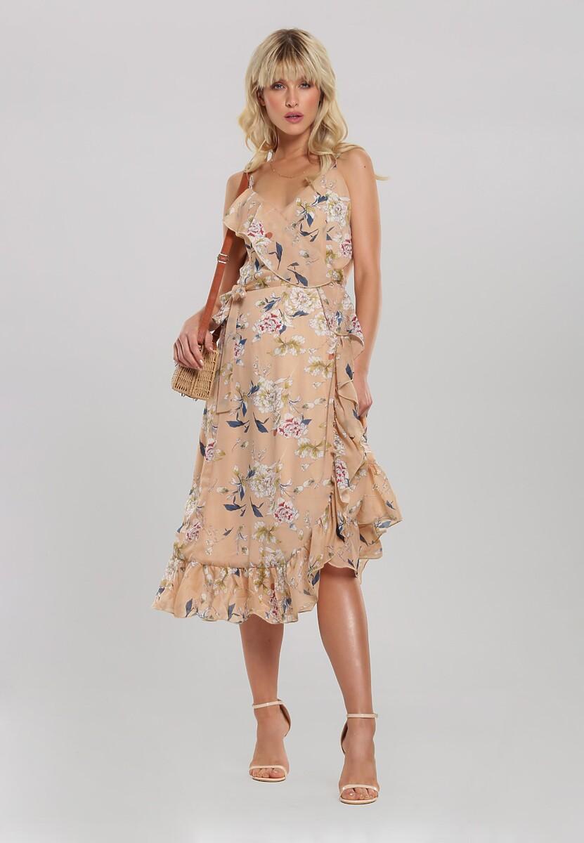 Beżowa Sukienka Gardening
