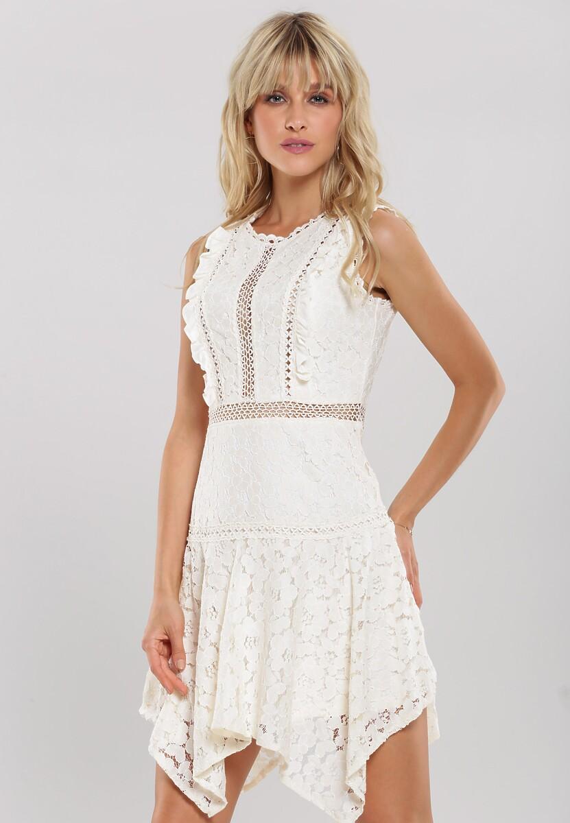 3abf7192 Jasnobeżowa Sukienka Pushful